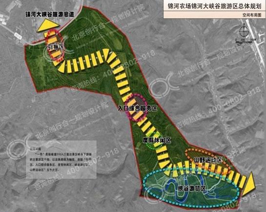 锦河大峡谷旅游规划图